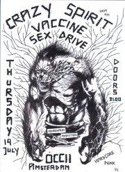 Crazy Spirit + Vaccine + Sex Drive @ OCCII 19/7/2012