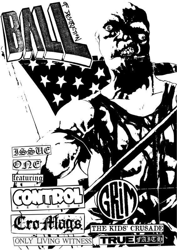 Ball Of Destruction – issue one ZINE