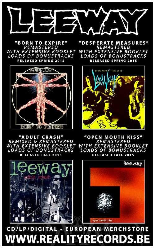 Reality Records re-releasing Leeway discography